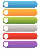 pic of oblong  - Set of bright colorful oblong design elements - JPG