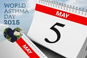 picture of asthma  - world asthma day against cloudy sky - JPG