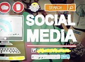 foto of socialism  - Social Media Social Networking Technology Connection Concept - JPG