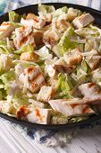 picture of caesar salad  - Caesar salad with grilled chicken close - JPG