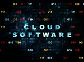 picture of wall cloud  - Cloud technology concept - JPG