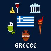 ������, ������: Traditional Greece symbols and culture icons