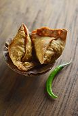 stock photo of indian food  - Popular indian street food  - JPG