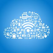 image of clouds  - Internet of things and cloud computing concept  - JPG