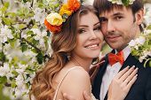 picture of bow tie hair  - Wedding couple - JPG
