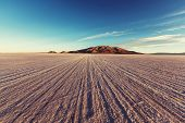 image of salt mine  -  salt flat in Bolivia - JPG