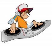 picture of disc jockey  - Illustration of a disc jockey - JPG