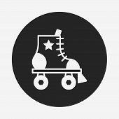 foto of roller-skating  - Roller Skate Icon - JPG