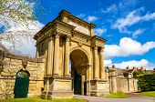 picture of gate  - Ancient gate in Woodstock Oxfordshire  - JPG