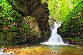 image of waterfalls  - Beautiful small waterfall In Balkan Mountains Bulgaria - JPG