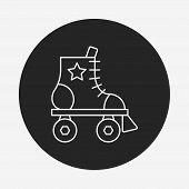 picture of roller-derby  - Roller Skate Line Icon - JPG