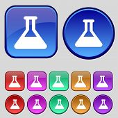 foto of conic  - Conical Flask icon sign - JPG