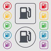 pic of petrol  - Petrol or Gas station Car fuel icon sign - JPG