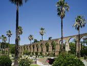 image of aqueduct  - Arches of San Anton Aqueduct of Caceres Extremadura - JPG