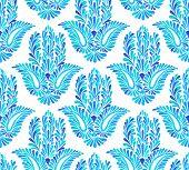 stock photo of hamsa  - seamless pattern with traditional hamsa element - JPG