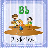 foto of letter b  - Flashcard letter B is for band - JPG