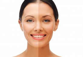 picture of half  - beauty and health concept  - JPG