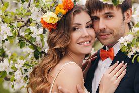 stock photo of bowing  - Wedding couple - JPG