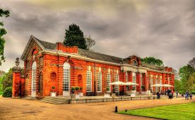 stock photo of kensington  - View of Kensington Palace in London  - JPG