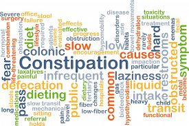 stock photo of laxatives  - Background concept wordcloud illustration of constipation - JPG