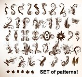 Set of vector vintage patterns.