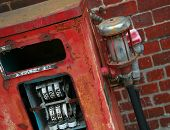 pic of bowser  - an old red fuel pump long since out of service - JPG