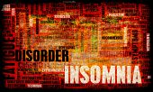 Insomnia a Sleep Disorder Concept in Grunge