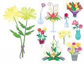 Vintage Floral Vector Bouquet Garden Flower. Botanical Natural Peonies Illustration. Summer Floral G poster