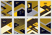 Minimal Flyers, Booklets, Annual Reports Cover Templates. Web, Commerce Or Events Vector Graphic Des poster