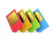picture of micro-sim  - sim cards isolated on white background - JPG