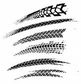 Motorcycle Tire Tracks Vector Illustration. Grunge Automotive Element Useful For Poster, Print, Flye poster