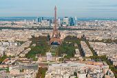 Eiffel Tower Landmark And Paris Cityscape From Above, Paris France poster