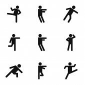 Physical Activity Icons Set. Simple Set Of 9 Physical Activity Vector Icons For Web Isolated On Whit poster
