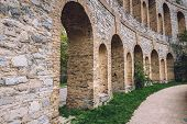 Roman Theater Ruins With Archways On Ruinenberg Hill In Potsdam On Bornstedt Park Area. Unusual Tour poster