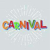 Popular Event Brazil Carnival Title With Sunshine Frame. Travel Destination In South America During  poster