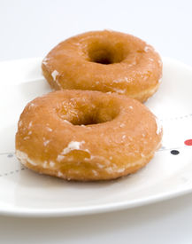 pic of doughy  - Two Glazed Donuts - JPG