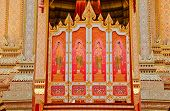pic of crematory  - The Door Thai style painting art at the Royal Cremation Ceremony of Prince Bejaratana Rajasuda - JPG