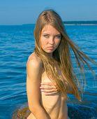 image of nudism  - Portrait Sea Nude - JPG