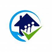 Nursing Home Logo Design Home Care Elderly Vector Illustrations poster