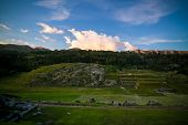 View To Sacsayhuaman Unesco World Heritage Site In Cusco, Peru poster