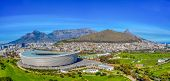 An aerial view of the legislative capital of South Africa, the scenic Cape Town poster