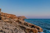 Cape Greco Cyprus. 13 August 2019. A Landscape View At Cape Greco In Cyprus poster