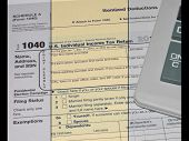 stock photo of triptych  - Image of tax Form 1040 - JPG