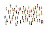 Vector People Group Crowd Social Team Large Person Together People Network Communication poster