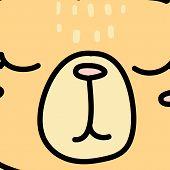 Cute Baby Bear Snout Cartoon Vector Illustration poster