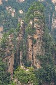 Huge Stone Pillar As Seen From The Scenic Platform Over The Tian Qiao Or The Greatest Natural Bridge poster