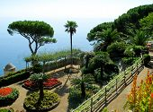 picture of villa  - View over the italian Amalfi coast from Villa Rufolo garden in Ravello - JPG