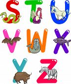 picture of x-ray fish  - Cartoon Colorful Alphabet Set with Funny Animals - JPG