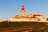 Lighthouse Of Cabo Da Roca At Sunset Light