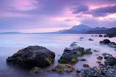 pic of crimea  - Sea stones at sunset - JPG